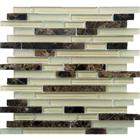 Brown Marble Mix Glass Mosaic