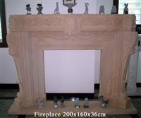 Beige Fireplace