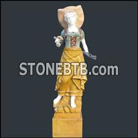 Marble Person Sculpture
