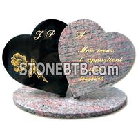 Double Hearts Tombstone