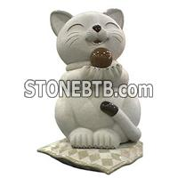 Cat Stone Carving