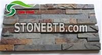 Rustic Natural Slate Stacked Stone Wall