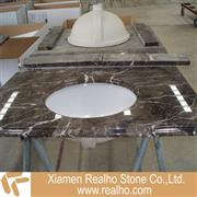 dark emperador marble bathroom tops