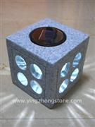 Solar light in stone