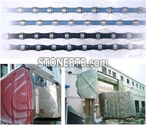 Diamond Wire Saw for Mining Block Squaring Profiling Granite Marble Concrete