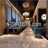 Grade A Natural Marble Look Polished Light Grey Floor Tiles