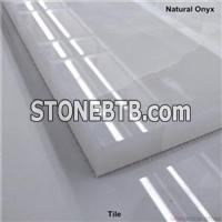 White Onyx Look Porcelain Flooring Tiles 80x80