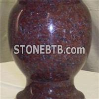 Red Granite Memorial Ashes Urns Vase