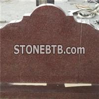 Red Granite Upright Memorial Headstones Markers Designs