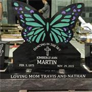 Cheap American Style Black Granite Headstone For Graves