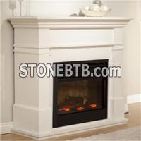 White Marble Fireplace Mental Indoor