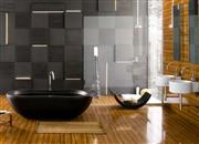 Black Freestanding Elliptical Bathtub