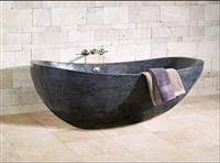 Romano Clasico Travertine Carved Bathtub