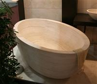 Hotel Oval Bathtub Nature Stone Material