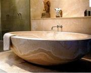 Tara Circular Resin Soaking Tub