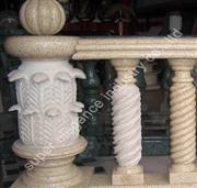 yellow granite balustrade 2