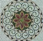 Multi Color Pebble Mosaic Stone Medallions