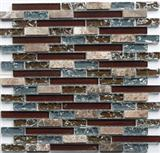 Metal Mixed Crystal Glass Mosaic Tiles