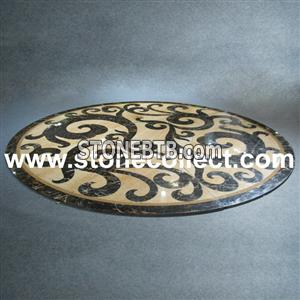 marble Mosaic Medallion Waterjet Medallion
