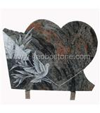 Heart styled granite memorial&monument&plaque