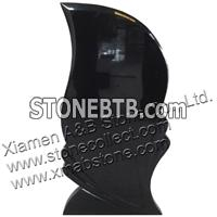 absolute black granite shanxi black tombstone
