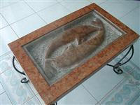 Red Marble table tops, Stone Furniture