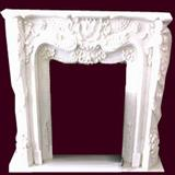 Stone Fireplace,White Marble Fireplace
