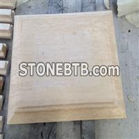 Travertine Square Pillars Cap