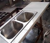 Marmoglass Kitchen Countertops with basin