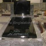 DL Black Granite Tombstone