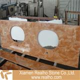 tea rose marble vanities