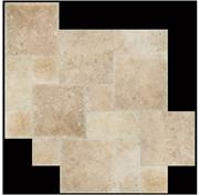 Filled Honed Medium Travertine French Pattern