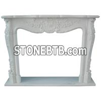White color fireplace mantel