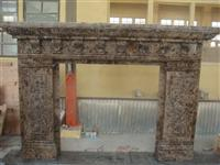 Dark Emperador Fireplace Mantel