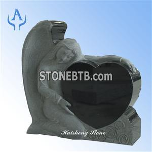 China black granite angel monument