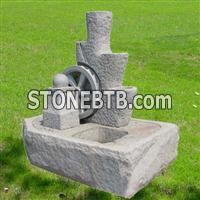 granite and marble fountain, wall fountain