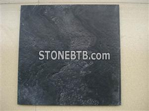 Black wood vein marble-sandblast+honed