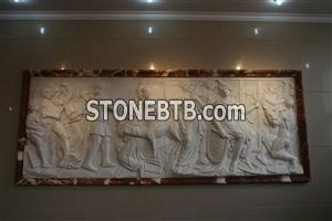 marble relief carving