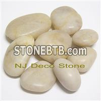 white pebble stone landscape pebble