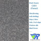 G684 Black Basalt /Black Beauty Flamed Tiles