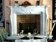 Fireplace Mantel - White Marble