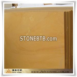 golden yellow sandstone tiles