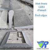 G684 Black Basalt / Black Beauty Pool edges