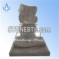 China multicolor red monument tombstone