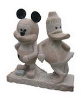 Granite Sculpture Mickey Mouse and Donald Duck
