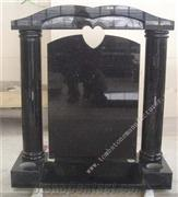 black galaxy headstone
