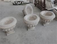 Flower Pot, Planters,Vase in white granite