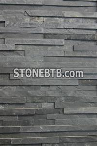 black slate wall cladding panel