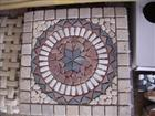 Travertine Mosaic Medallion, Rosette