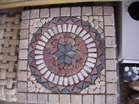 Travertine Mosaic Medallion Rosette
